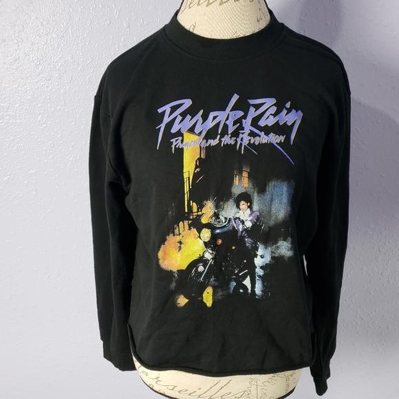 Prince Tops - Prince and the Revolution Purple Rain Lightly Crop